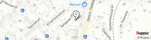 Недвижимость Кисловодска на карте Кисловодска