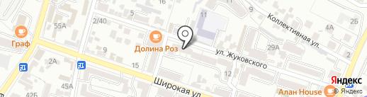 РОСА на карте Кисловодска