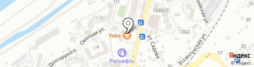 Лимузин КМВ на карте Кисловодска