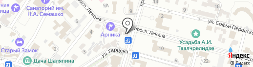 Динго на карте Кисловодска