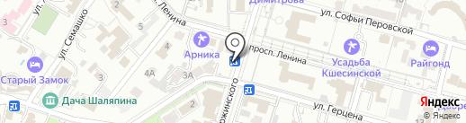 Союзпечать на карте Кисловодска