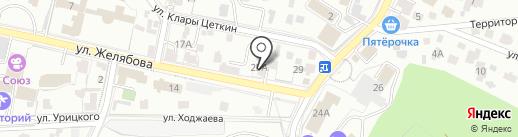 Мегастом на карте Кисловодска