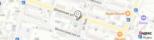 Пульсар на карте Кисловодска