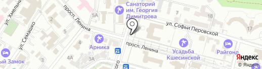 Роза на карте Кисловодска