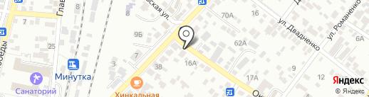 Чунга-Чанга на карте Кисловодска