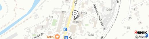 Табакерка на карте Кисловодска
