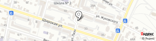 Нарсан на карте Кисловодска