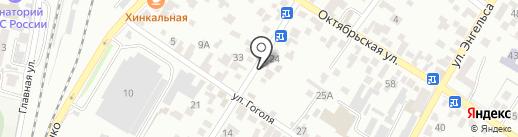 Милена на карте Кисловодска