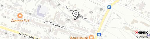 Остров красоты на карте Кисловодска