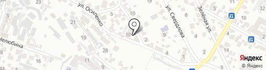 Людмила-К на карте Кисловодска