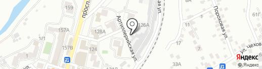 Адель на карте Кисловодска