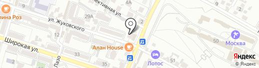 АПТЕЧНАЯ ОРГАНИЗАЦИЯ ЗДОРОВЬЕ на карте Кисловодска