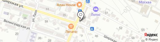 Крона на карте Кисловодска
