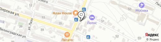 Кокетка на карте Кисловодска
