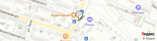 Юпитер на карте Кисловодска