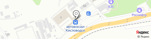 Автовокзал на карте Кисловодска