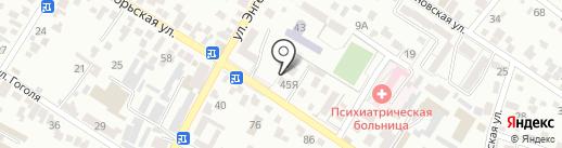 Защита на карте Кисловодска