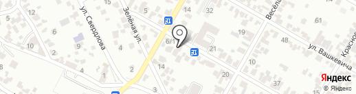 Аттис на карте Кисловодска