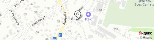 Газоблок на карте Кисловодска