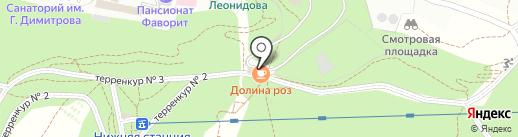 Долина Роз на карте Кисловодска