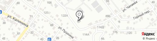 Дарина-92 на карте Кисловодска