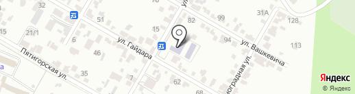 Средняя общеобразовательная школа №7 на карте Кисловодска
