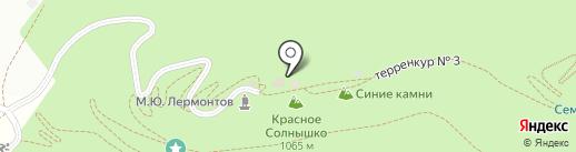Красное солнышко на карте Кисловодска