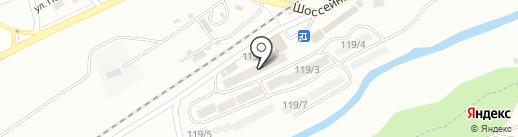 Солнечный на карте Ессентуков