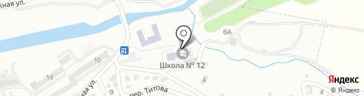 Средняя общеобразовательная школа №12 на карте Ессентуков