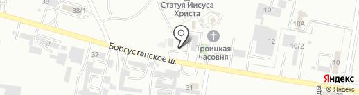 Крепленд на карте Ессентуков