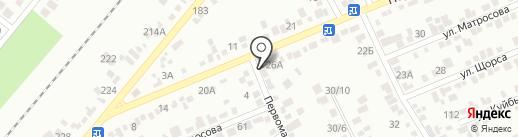 Первомайский на карте Ессентуков