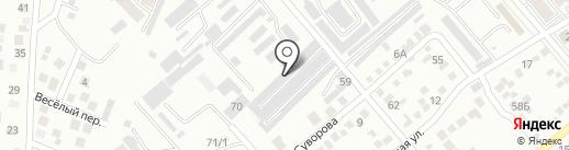 Центр ремонта автостекол на карте Ессентуков