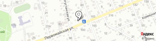 Бегунок на карте Ессентуков