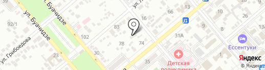 Детский сад №25, Рябинка на карте Ессентуков