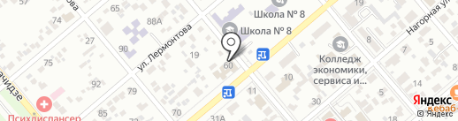 Автобаня на карте Ессентуков