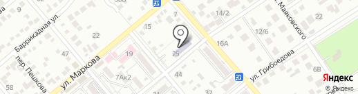 Детский сад №6, Чебурашка на карте Ессентуков
