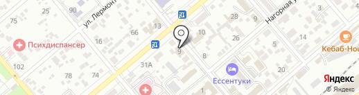 Шатура на карте Ессентуков