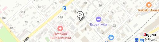 Отдел МВД России по г. Ессентуки на карте Ессентуков