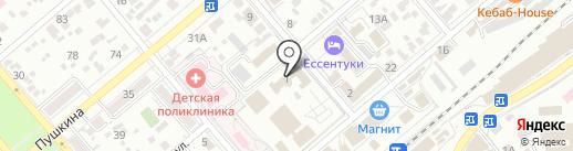 Центр реабилитации инвалидов и лиц с ограниченными возможностями здоровья на карте Ессентуков
