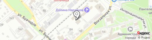 Ессентуки на карте Ессентуков