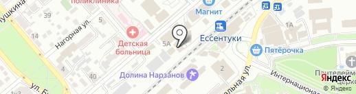 Подводный мир на карте Ессентуков