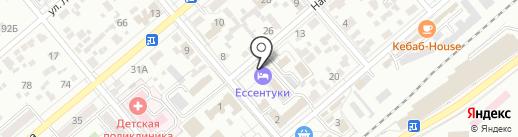 Каскад на карте Ессентуков