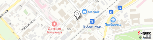 Бугарь на карте Ессентуков