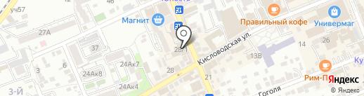 Лотос на карте Ессентуков