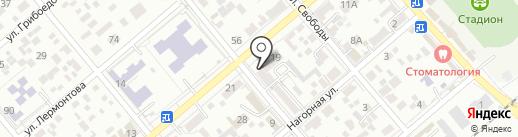 Ла-Дент на карте Ессентуков