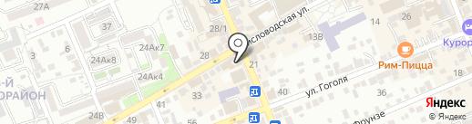 Росс-Тур на карте Ессентуков