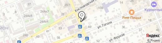 Чулочек на карте Ессентуков