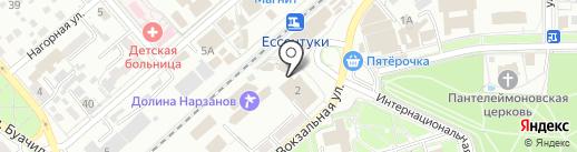 Управление Пенсионного фонда РФ по г. Ессентуки на карте Ессентуков