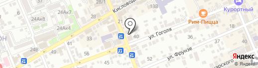 Элегант на карте Ессентуков
