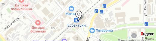 Железнодорожный вокзал на карте Ессентуков